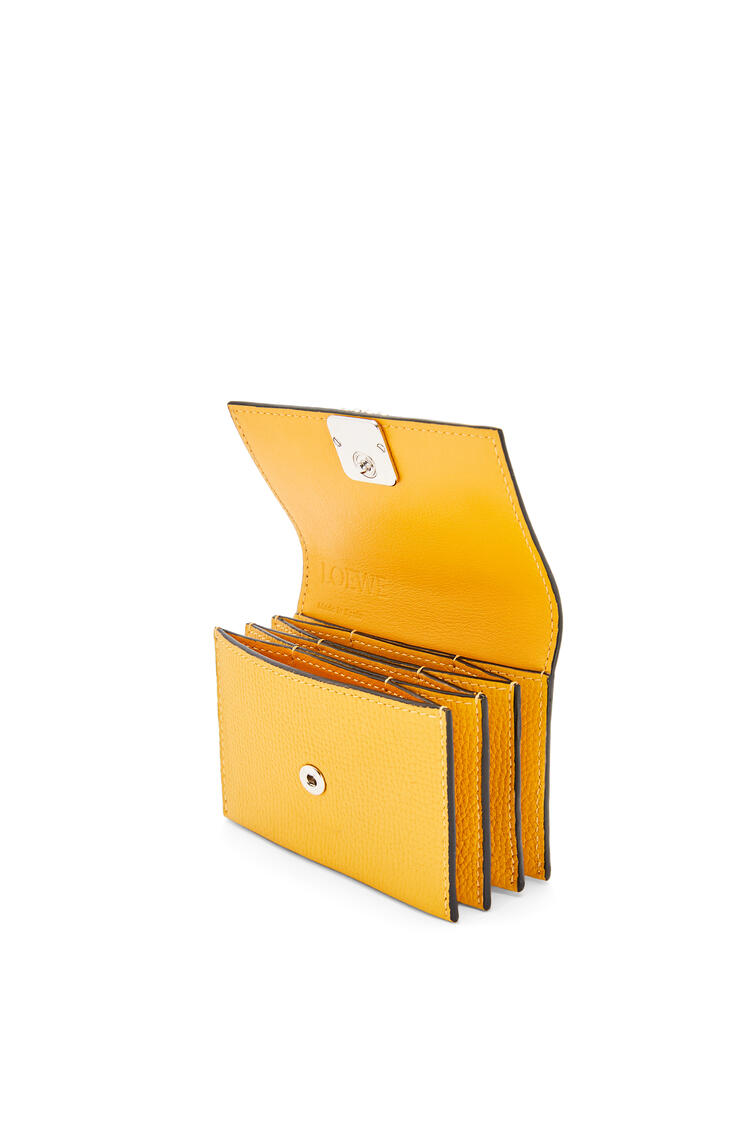LOEWE Anagram accordion cardholder in grained calfskin Yellow Mango pdp_rd