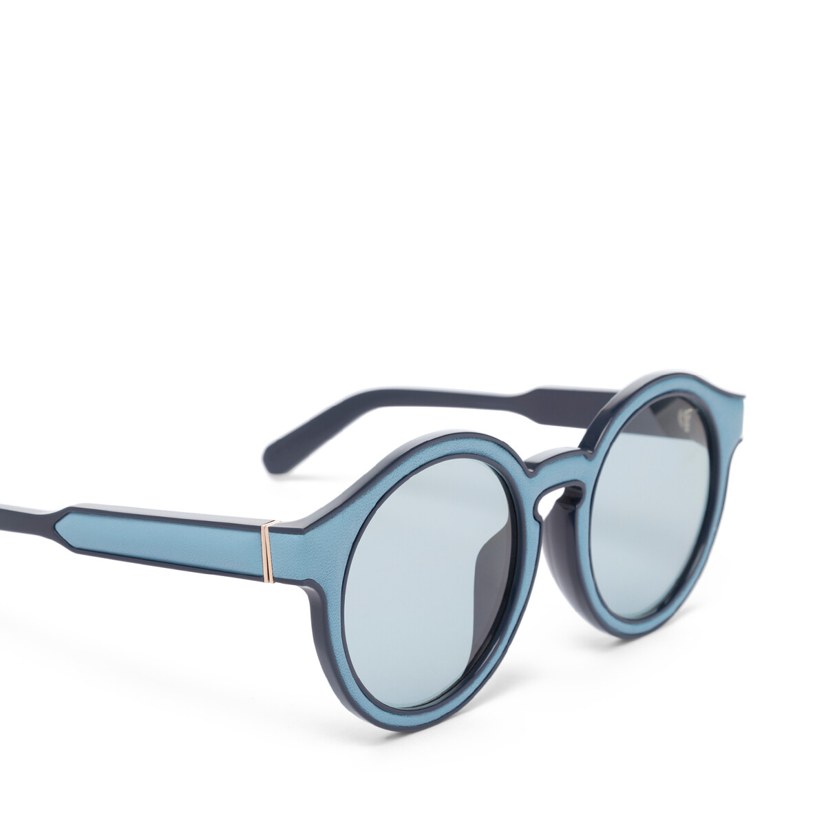 LOEWE Round Padded Sunglasses Sky Blue/Light Blue front