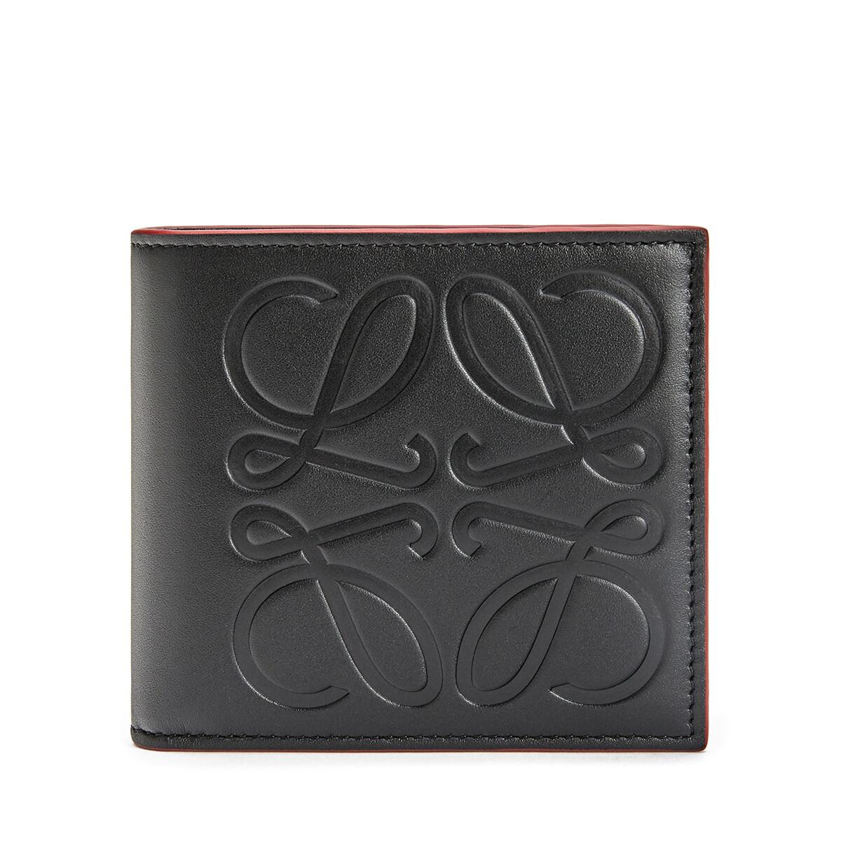 LOEWE Brand Bifold Coin Wallet Black front