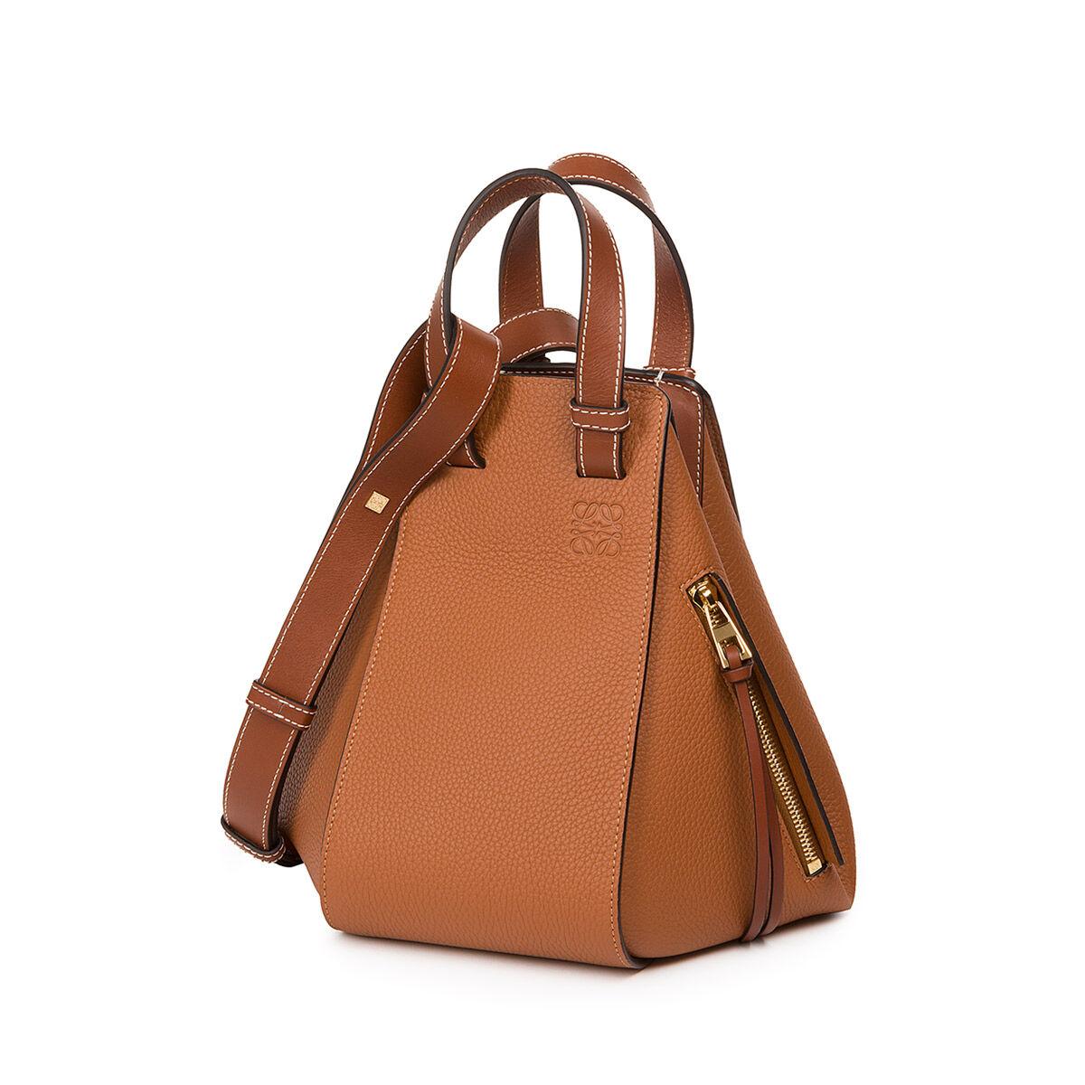 Hammock Small Bag in Tan Calfskin Loewe DV7h00Ph