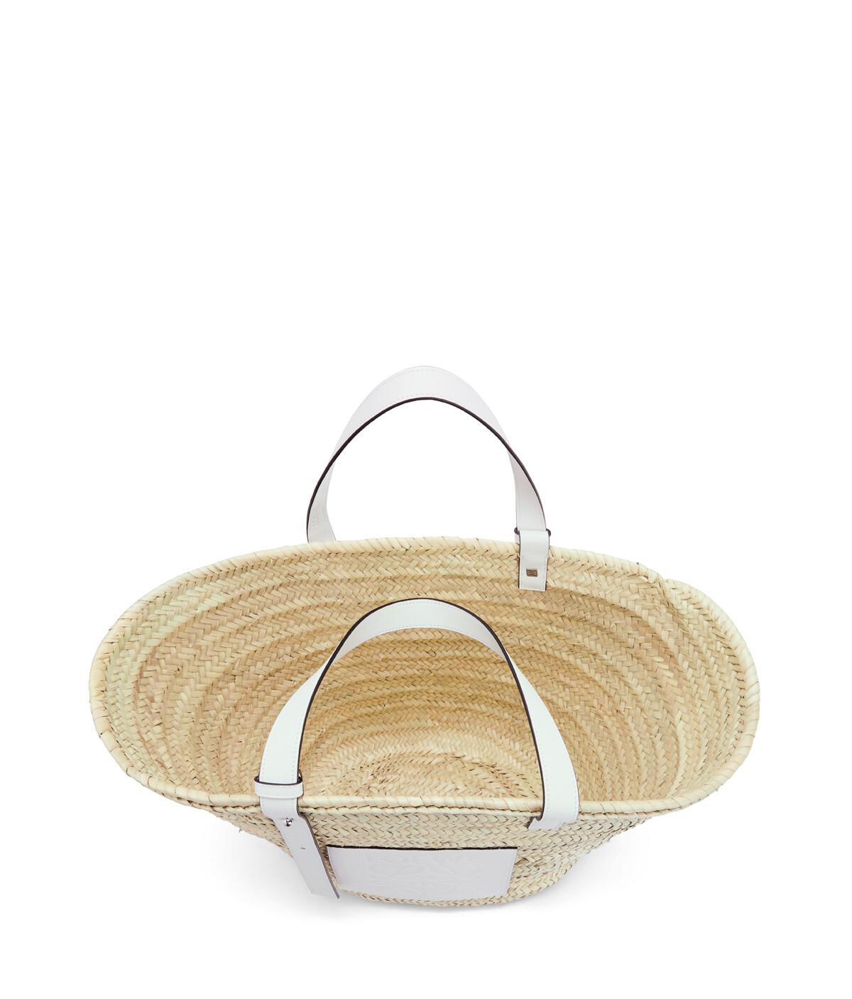 LOEWE Basket Large Bag Natural/White front