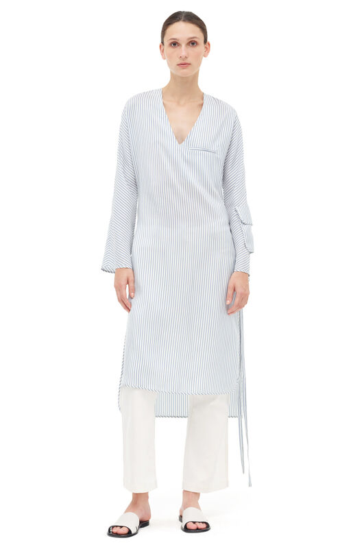 LOEWE Stripe Tunic Dress Blue/White front