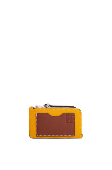 LOEWE 软粒面小牛皮硬币卡包 Narcisus Yellow/Pecan pdp_rd