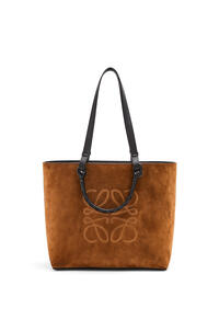 LOEWE Anagram Tote bag in classic calfskin and suede Cacao pdp_rd