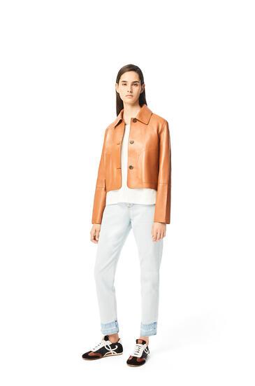 LOEWE Button jacket in nappa Tan pdp_rd