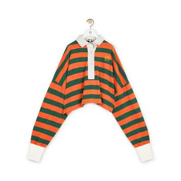 LOEWE Stripe Polo Naranja/Verde front