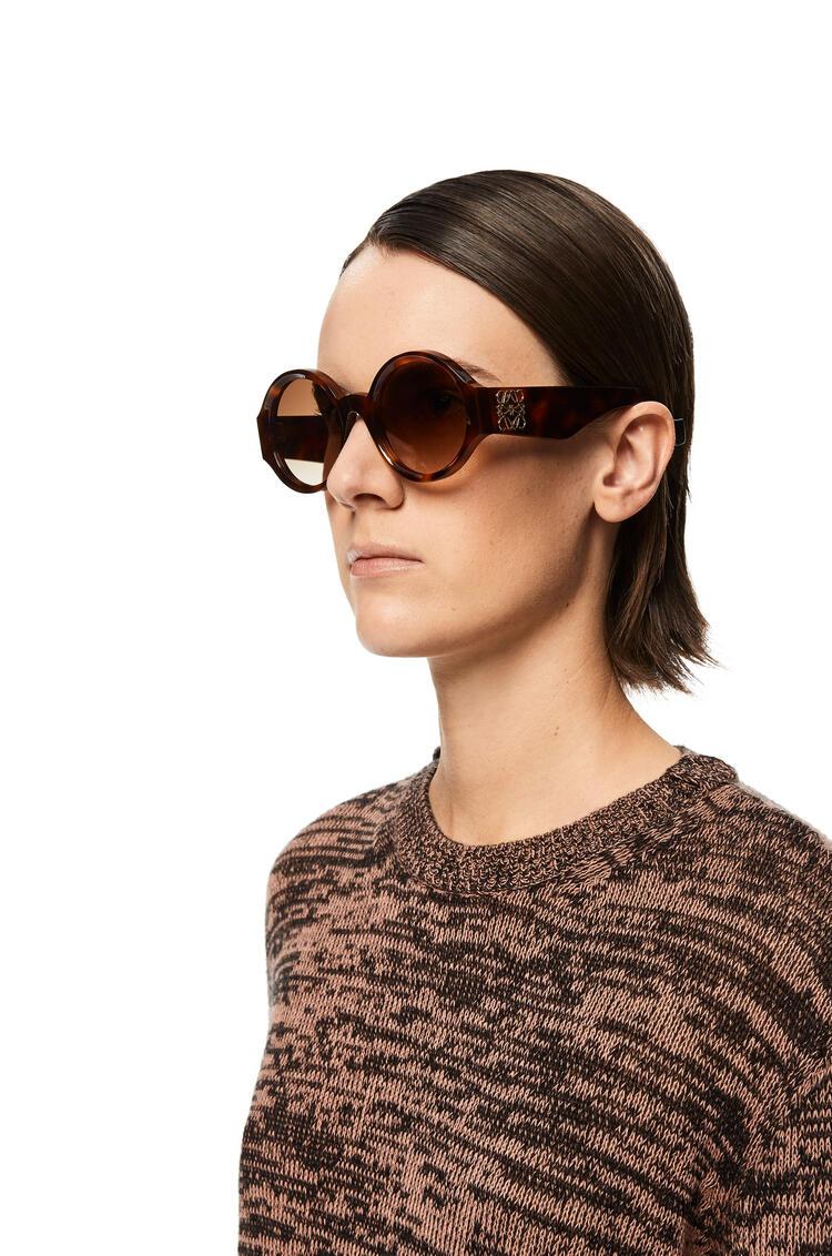 LOEWE Chunky round sunglasses in acetate Havana pdp_rd