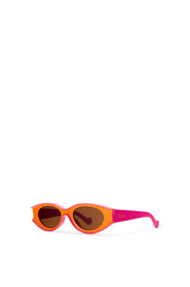 LOEWE Small sunglasses in acetate Neon Orange/Neon Pink pdp_rd