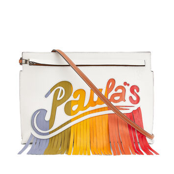 LOEWE Bolso Paula´S T Pouch Blanco/Multicolor front