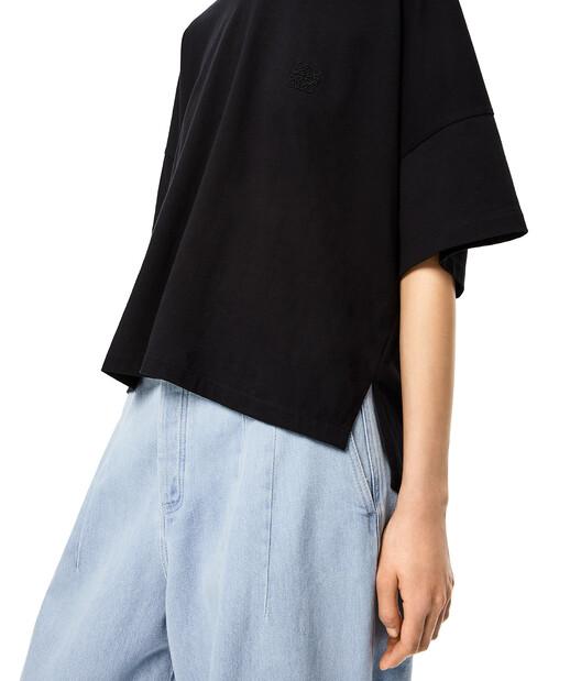 LOEWE Short Oversize Anagram T-Shirt Black front