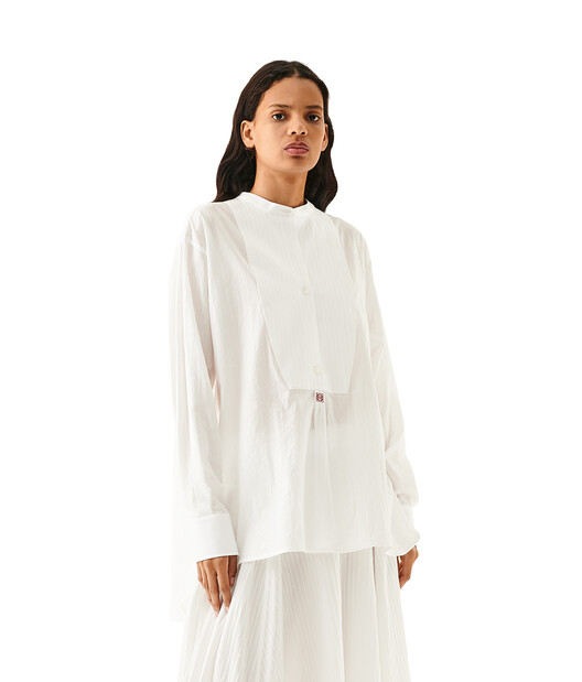 LOEWE Oversize Tunic Anagram Emb White front