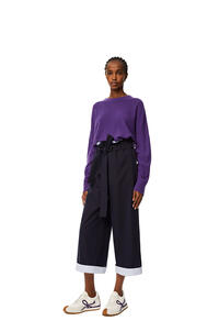 LOEWE Oversize sweater in cashmere Violet pdp_rd