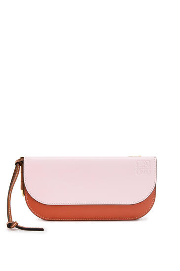 LOEWE Gate Continental wallet in smooth calfskin Soft Pink/Coral pdp_rd
