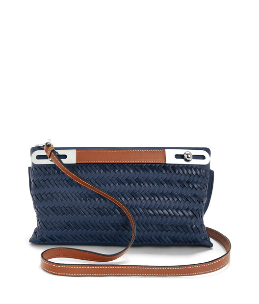 LOEWE Missy Woven Small Bag Midnight Blue front