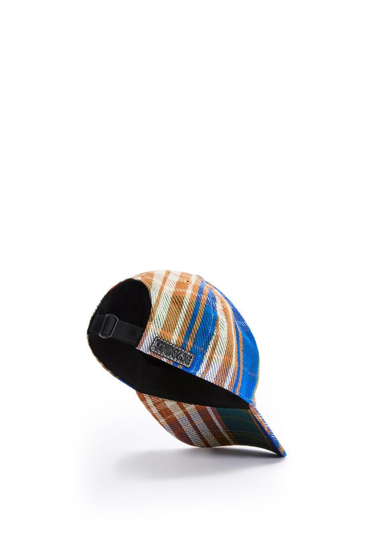 LOEWE Gorra en tartán Multicolor pdp_rd