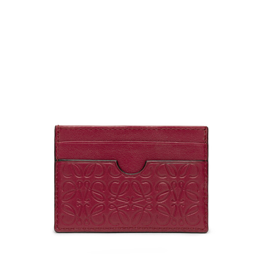 LOEWE Plain Card Holder Raspberry front