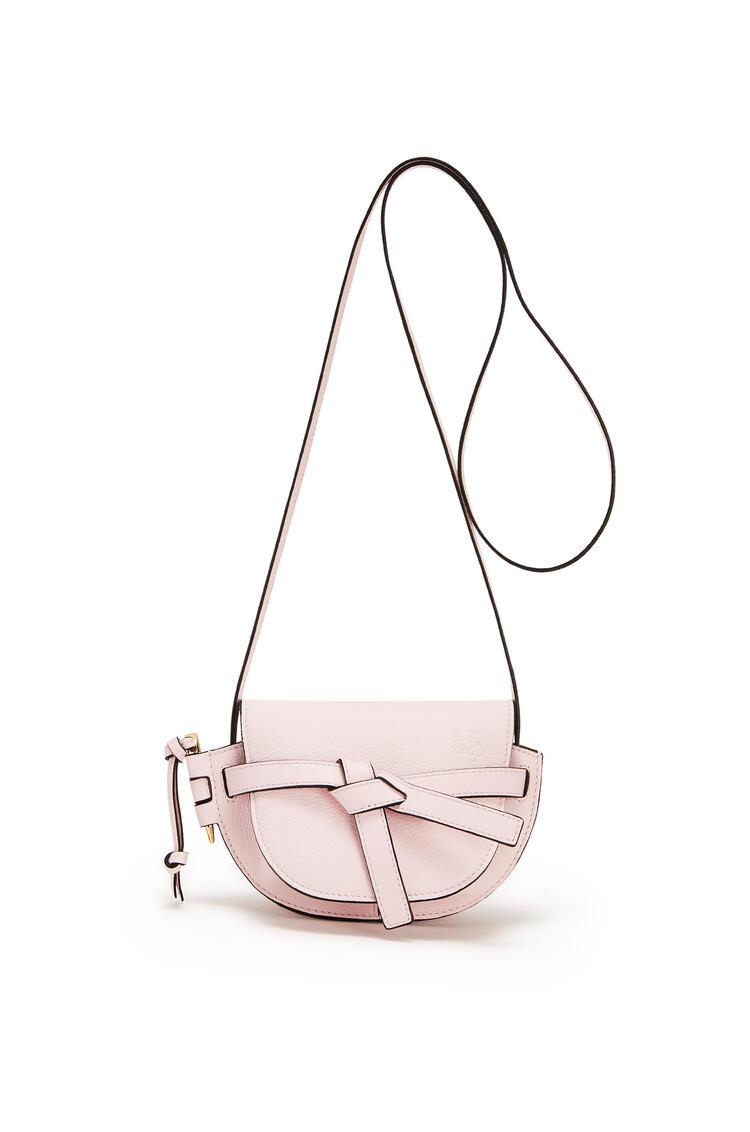 LOEWE Mini Gate bag in soft grained calfskin Icy Pink pdp_rd