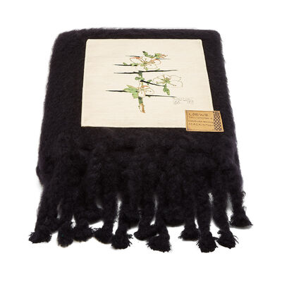 LOEWE 130X200 Blanket Botanical Black/Beige front
