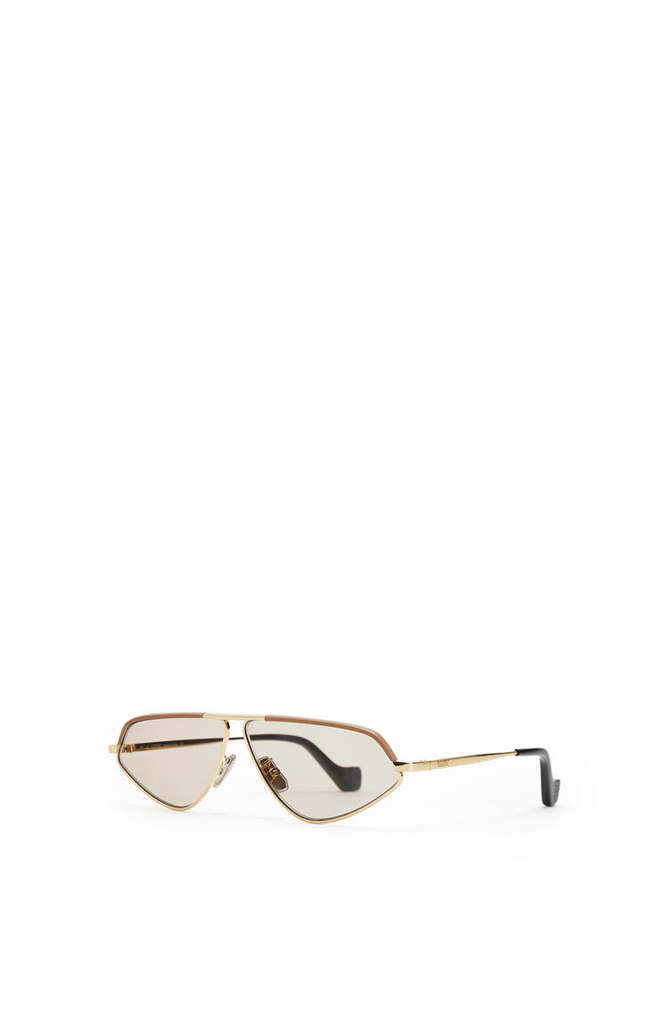 LOEWE LEATHER GEOMETRIC SUNGLASSES Hazelnut pdp_rd