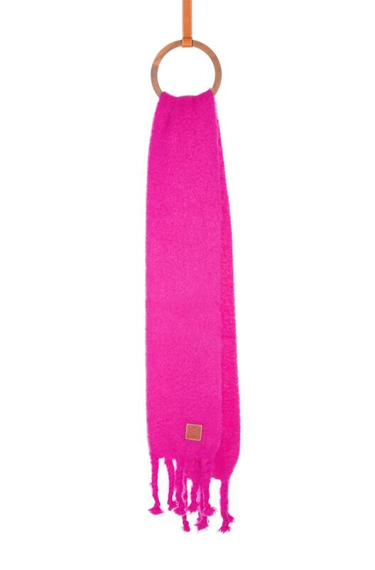 LOEWE 45X230 Scarf Plain Rosa front