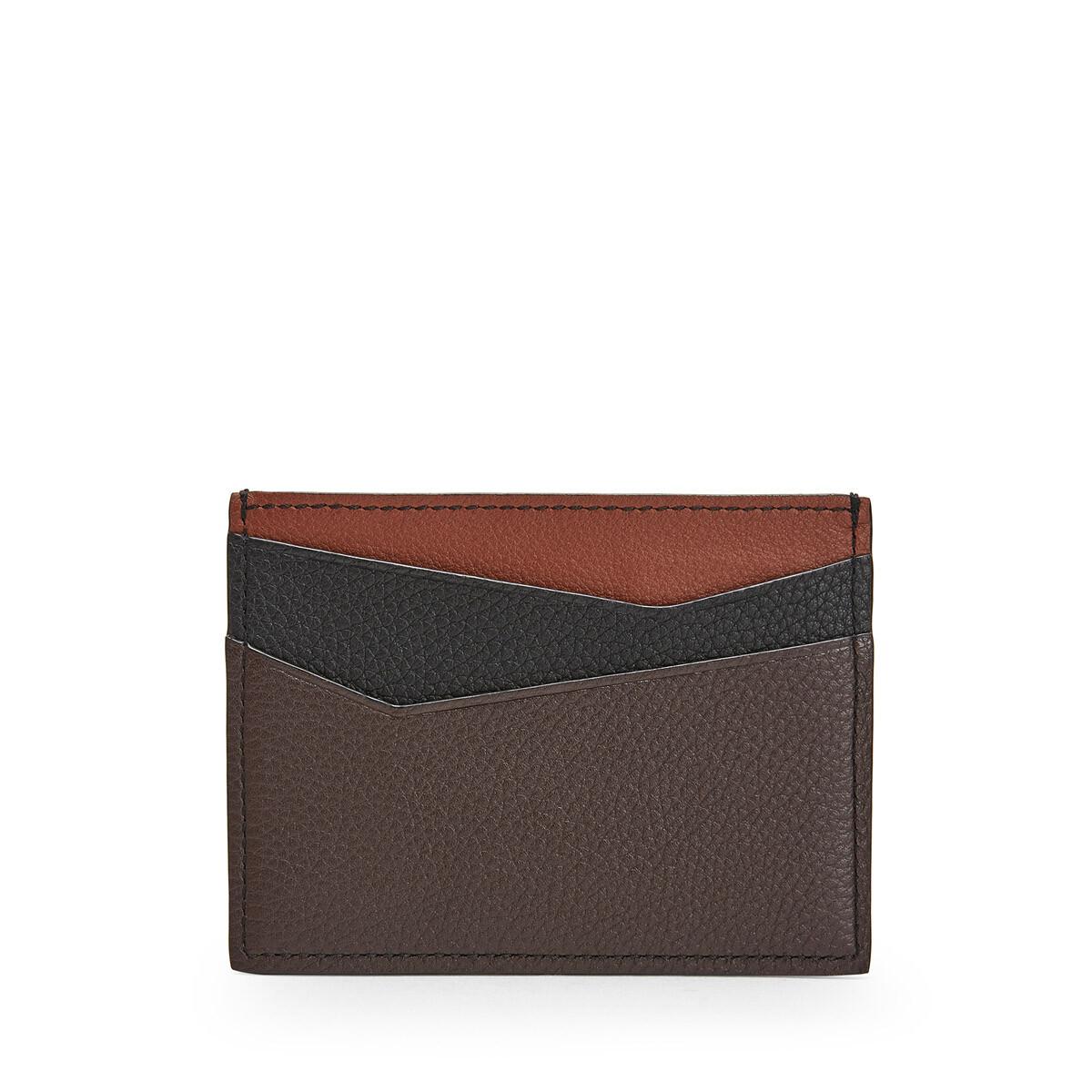 LOEWE Puzzle Plain Cardholder Cognac/Chocolate Brown front