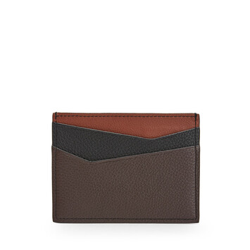 LOEWE Puzzle Plain Cardholder Cognac/Chocolate Brown front