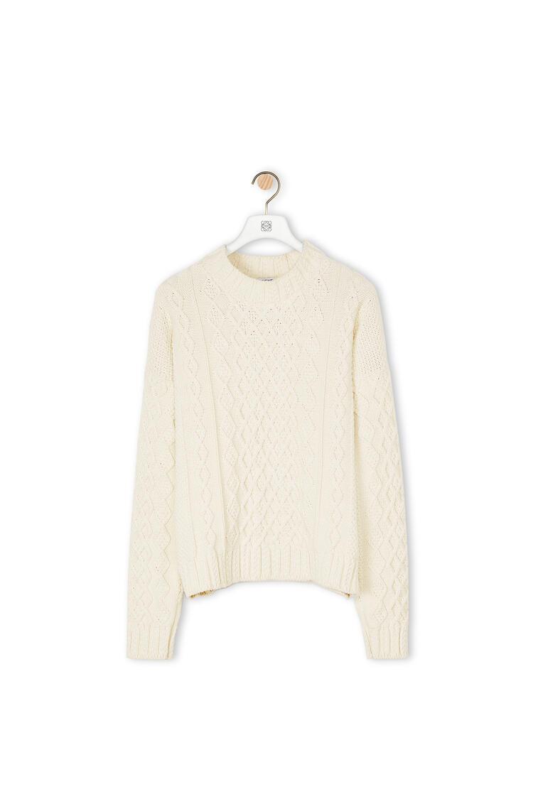 LOEWE Jersey de punto en algodón Ecru pdp_rd