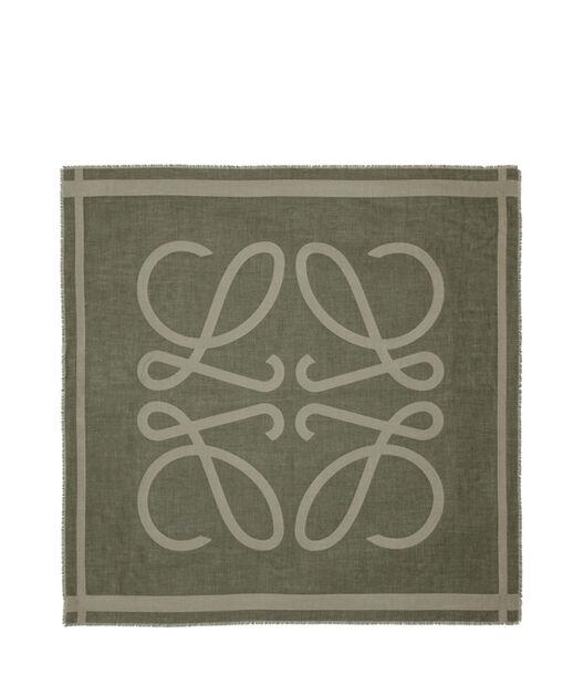 LOEWE 140X140 スカーフ ジャイアント アナグラム グリーン all