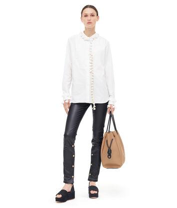 LOEWE Mao Collar Shirt Tassels Blanco front