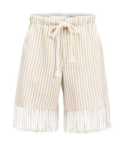 LOEWE Short Paula Stripes Sand/White front