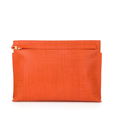 LOEWE T Pouch Linen Orange front