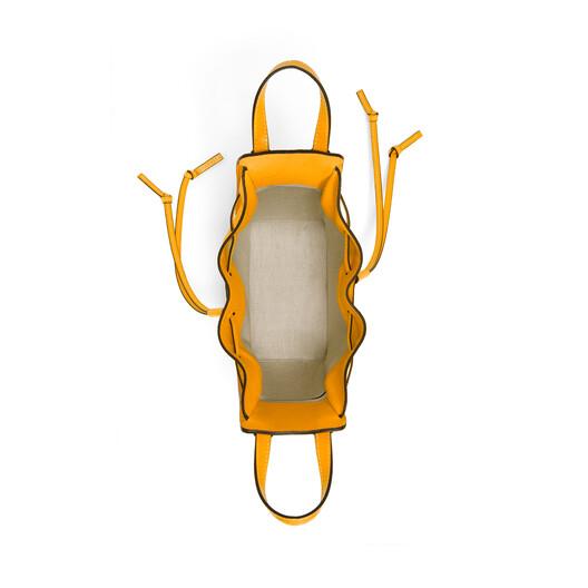 LOEWE Hammock Drawstring Mini Bag Mandarin front