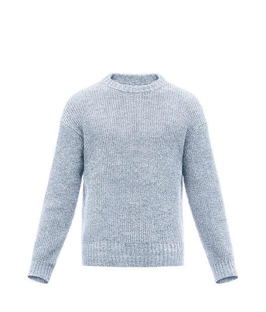 LOEWE Crewneck Sweater Melange Light Blue front