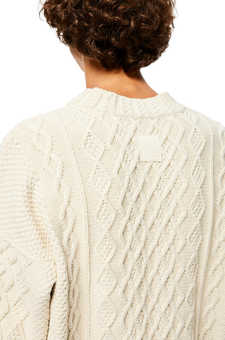 LOEWE Cable Sweater In Cotton Ecru pdp_rd