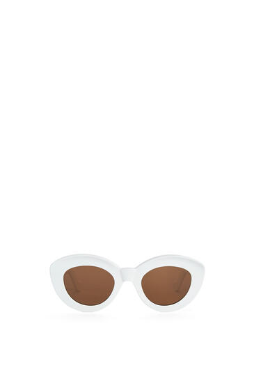 LOEWE Butterfly Anagram Fitted sunglasses in acetate Shiny White pdp_rd