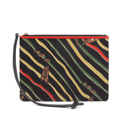 LOEWE Paula Flags Flat Pouch S Black front