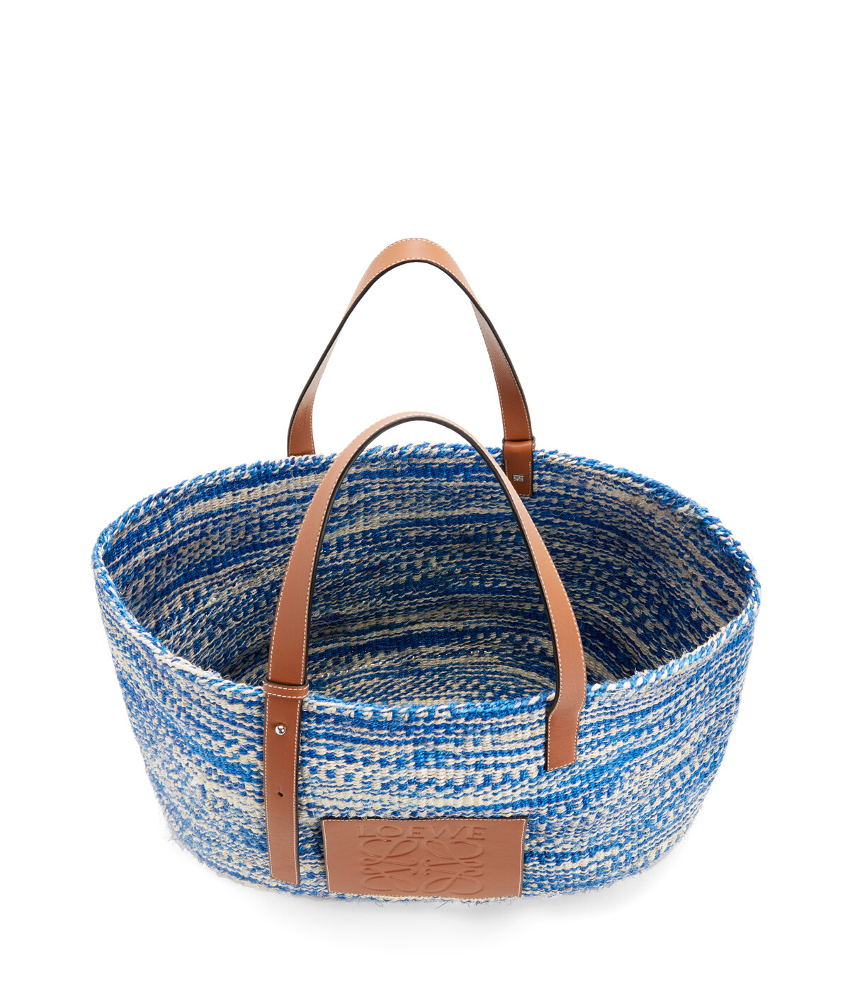 LOEWE Paula's Basket Large Bag Blue/Tan front