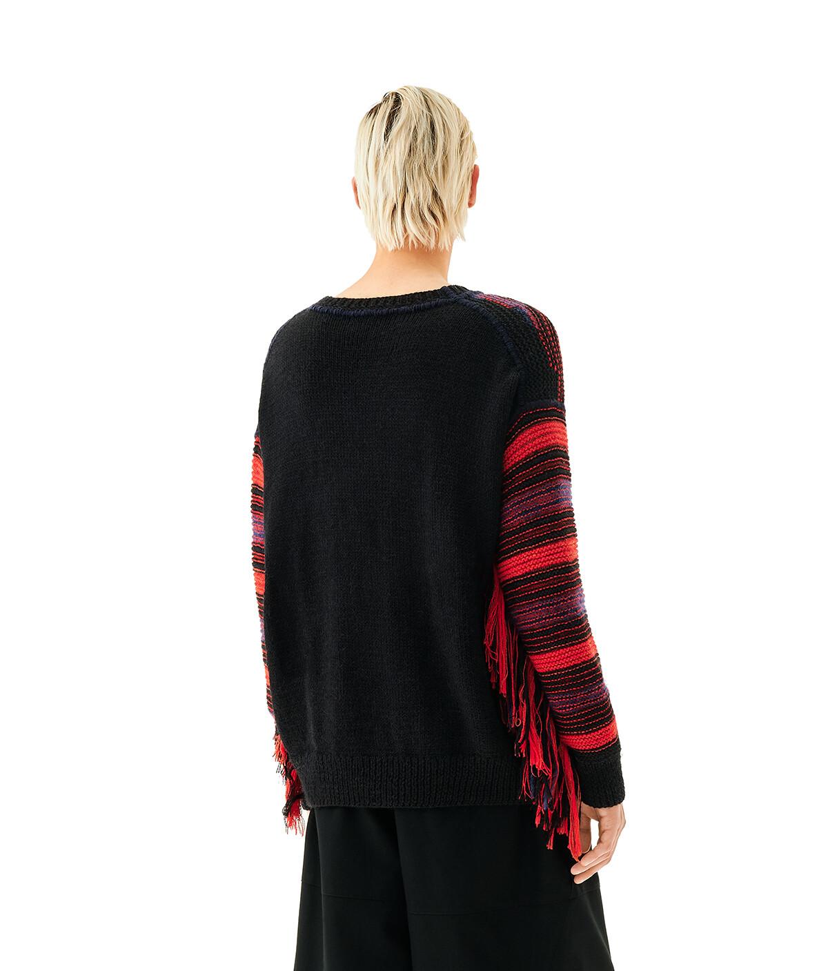LOEWE Dragon Stripe Sweater Red/Black front