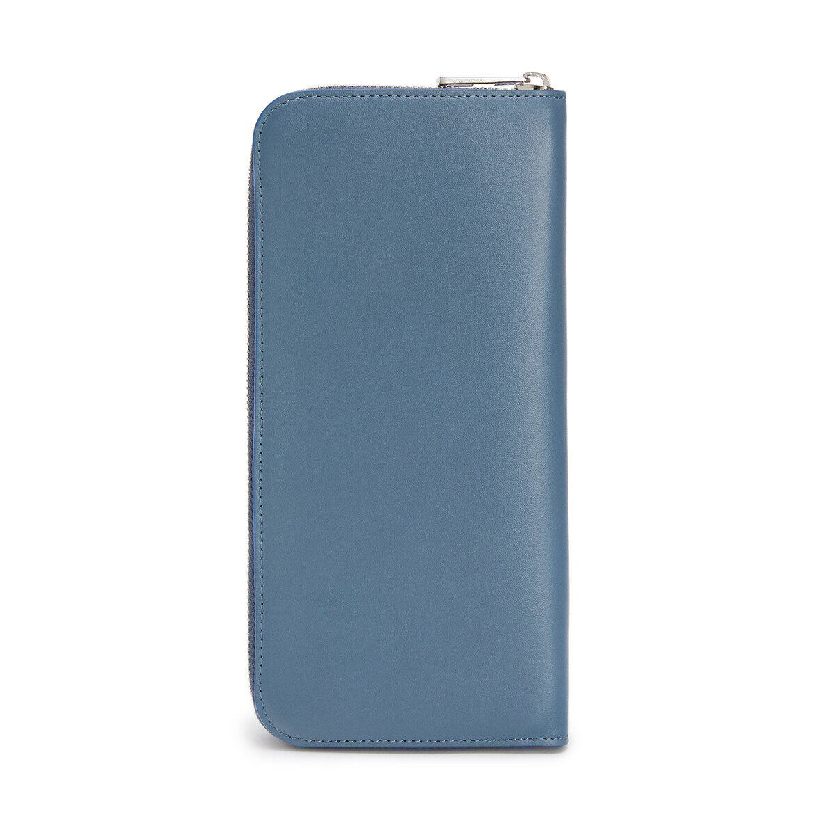 LOEWE Brand Open Wallet Steel Blue front