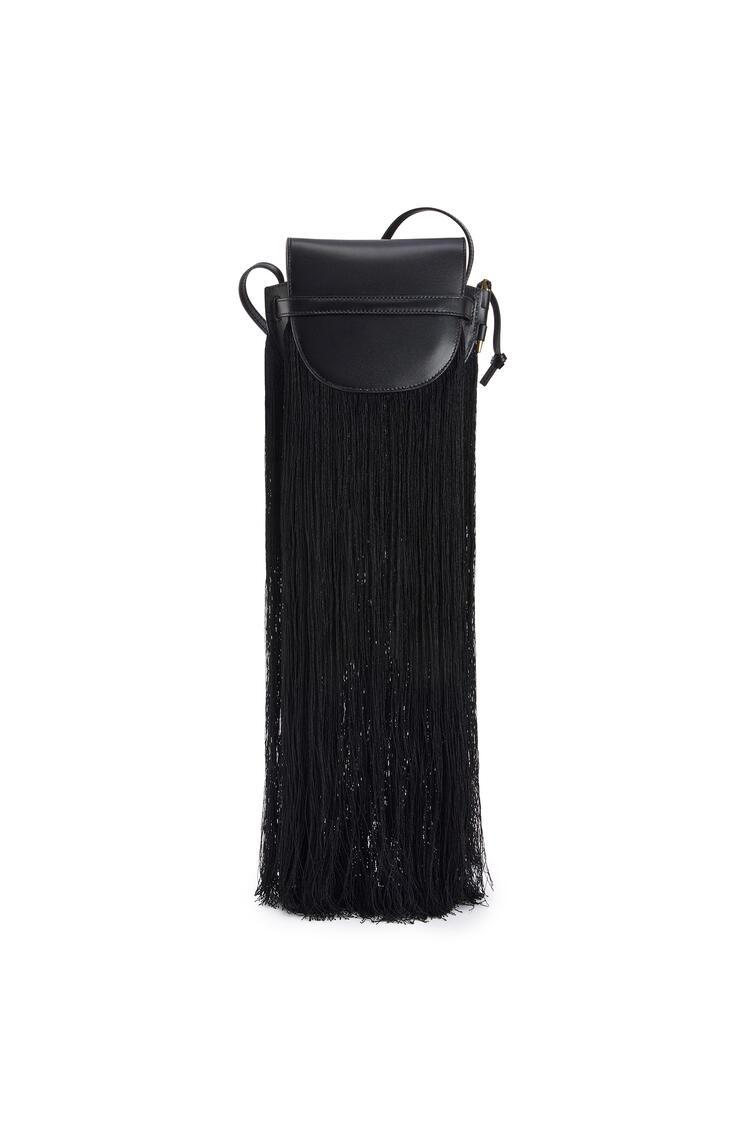 LOEWE Mini Gate Fringes Bag In Soft Calfskin Black pdp_rd