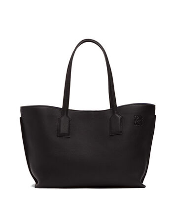 LOEWE T ショッパー バッグ Black/Electric Blue front