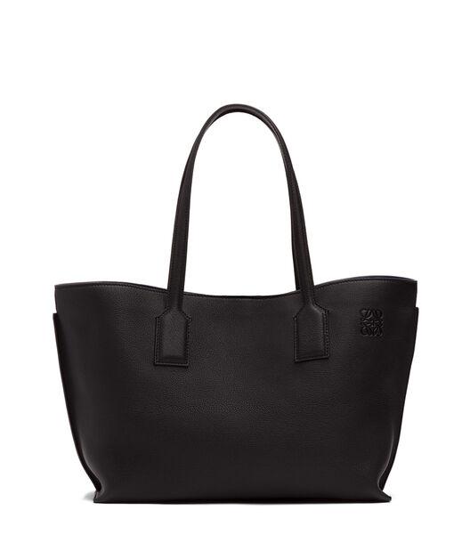 LOEWE T Shopper Bag Black/Electric Blue front