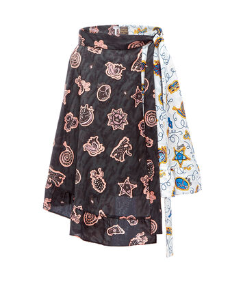 LOEWE Paula Print Wrap Skirt Ruffle マルチカラー front