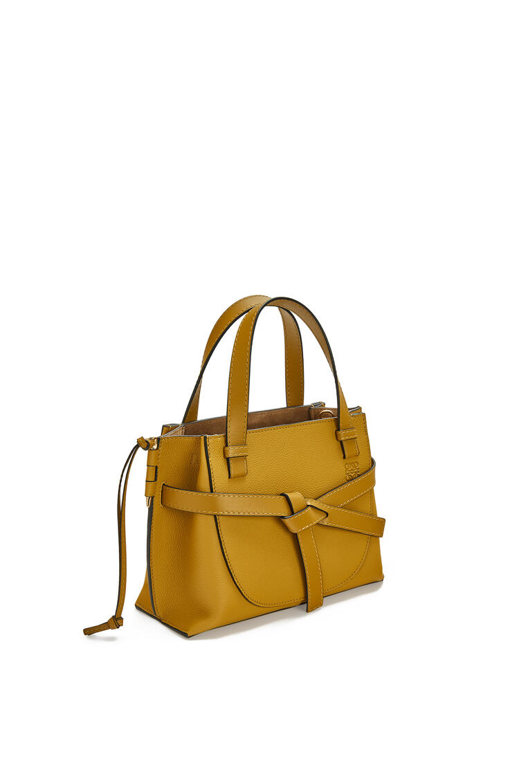 LOEWE Mini Gate Top Handle bag in soft grained calfskin Ochre pdp_rd