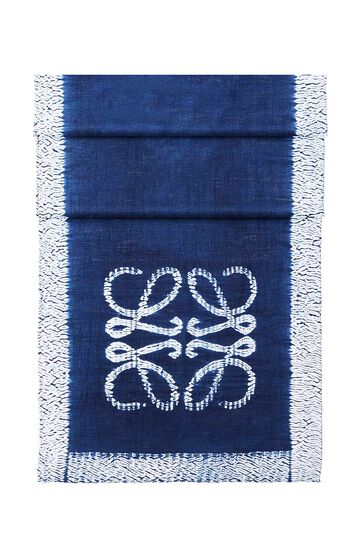 LOEWE 70X200 Scarf Anagram Tie & Dye 靛蓝色 front