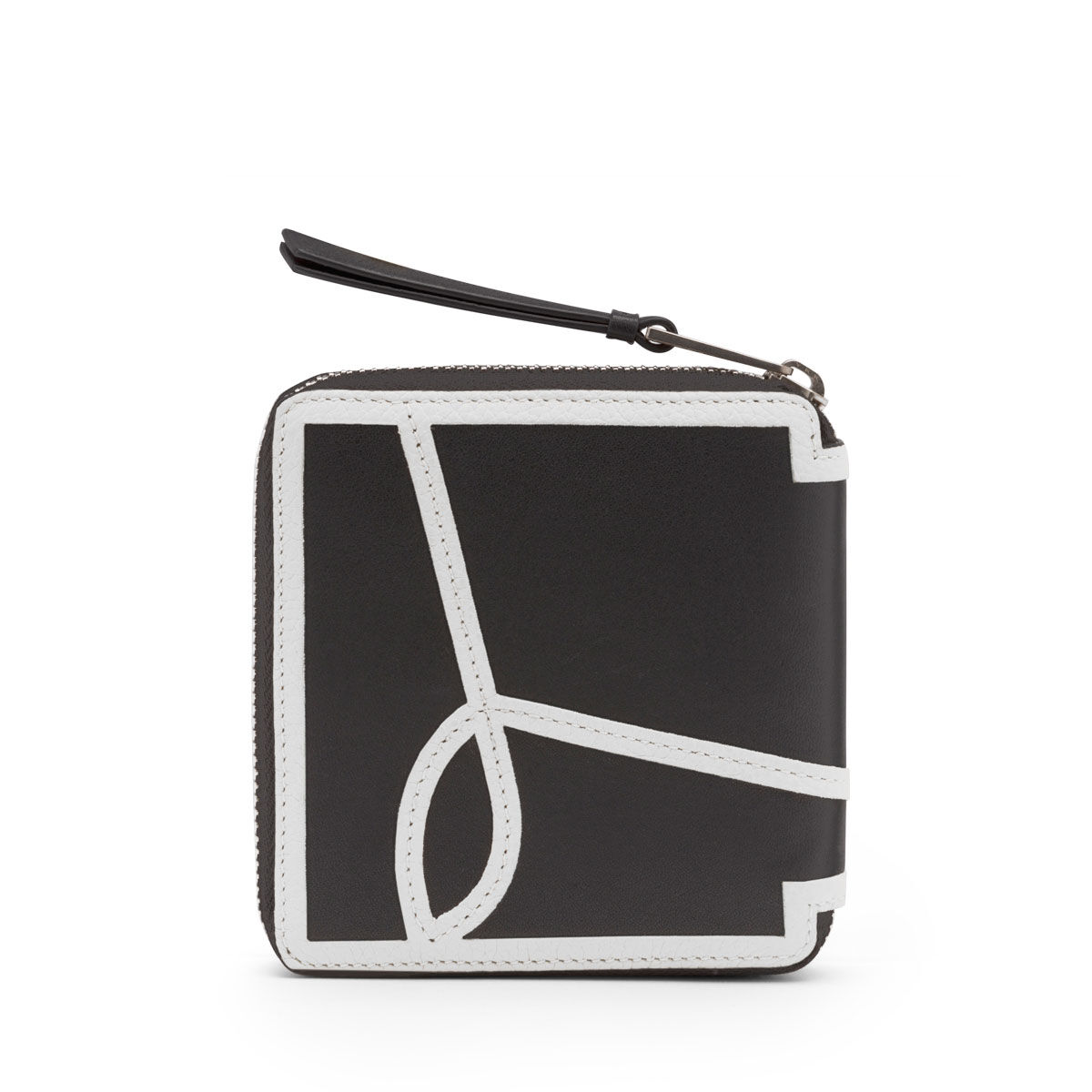 LOEWE Billetero C/C Cuad Puzzle Rose Blanco/Negro all