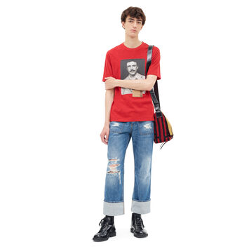 LOEWE T-Shirt Portrait Red front