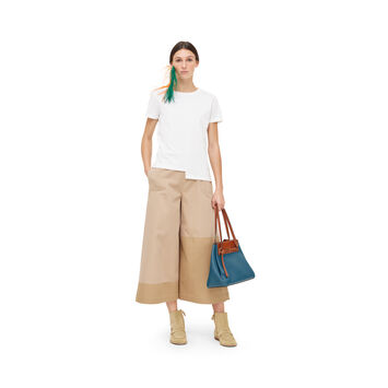 LOEWE Asym Anagram T-Shirt Blanco front