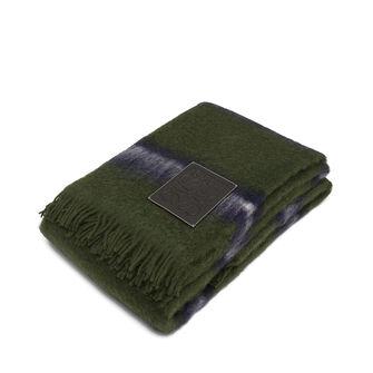 LOEWE 140X200 Manta Rayas Verde Multitono/Negro front