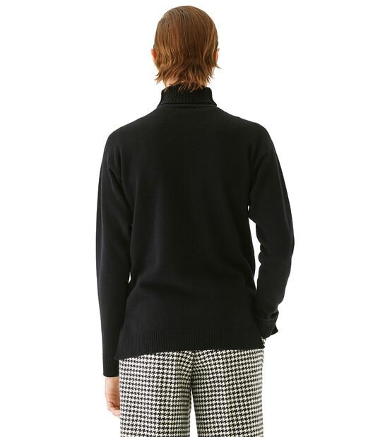 LOEWE Anagram Turtleneck Sweater Negro front